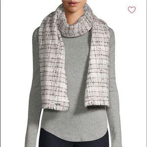 KARL LAGERFELD Fringed-trim Tweed Scarf